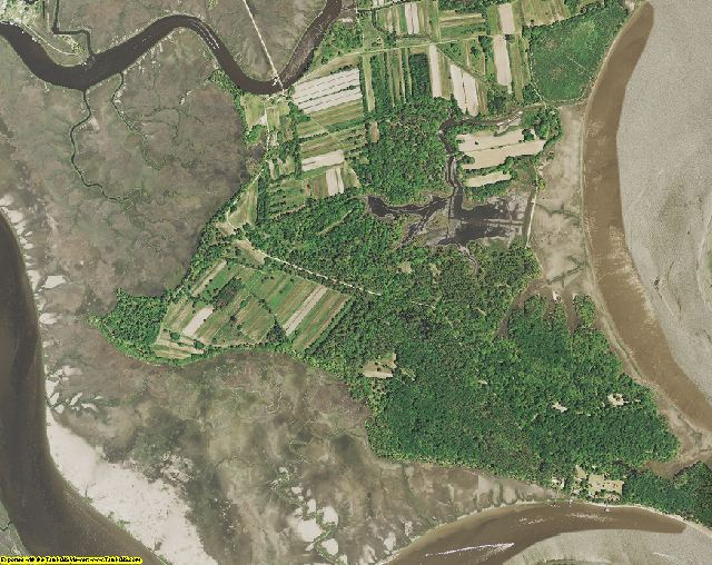 Colleton County, SC aerial photography detail