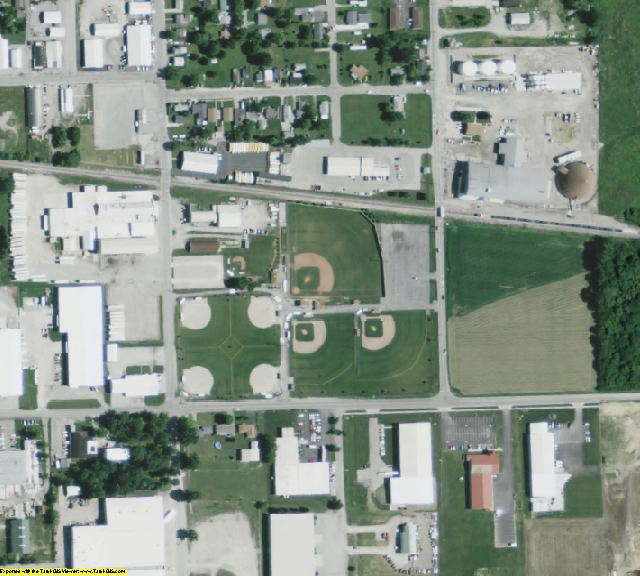 Darke County, OH aerial photography detail