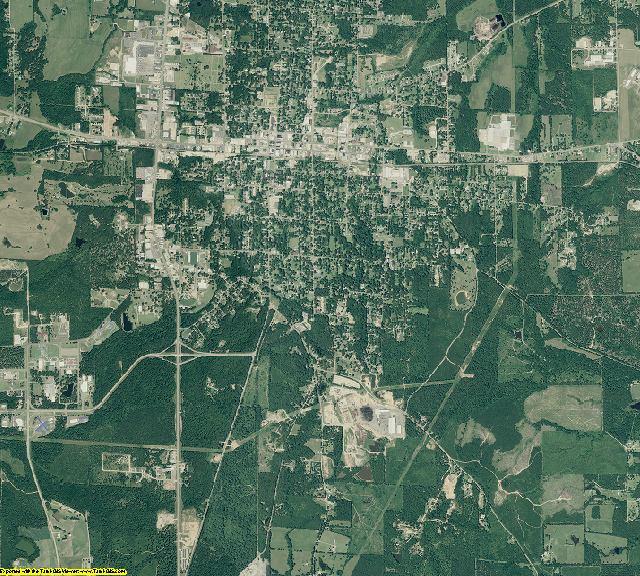 Drew County, Arkansas aerial photography