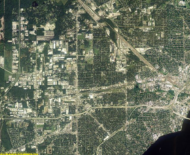 Duval County, Florida aerial photography