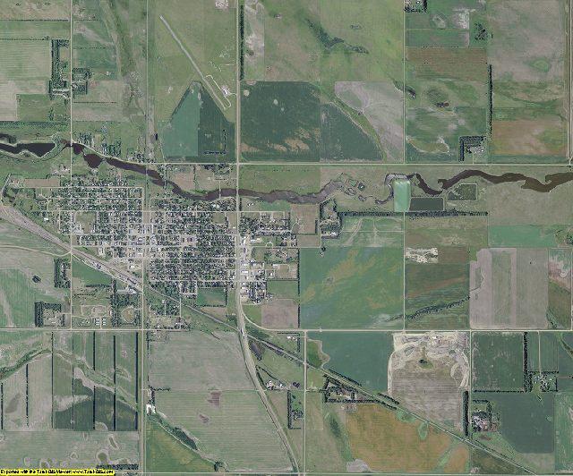 Eddy County, North Dakota aerial photography