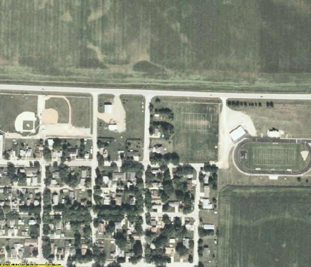 Emmet County, IA aerial photography detail