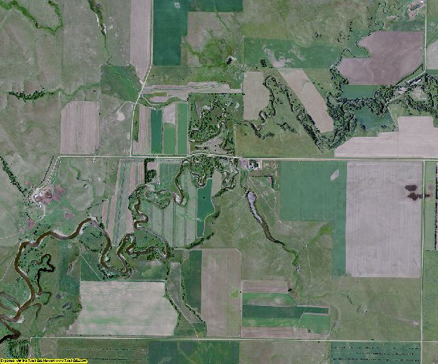 Emmons County, North Dakota aerial photography