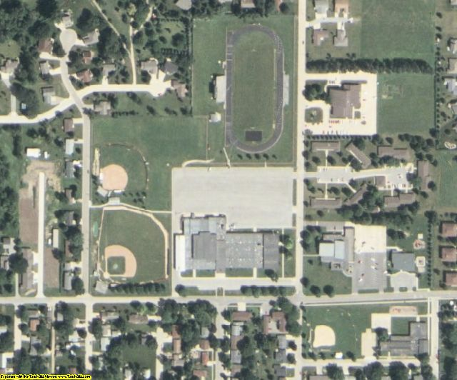 Franklin County, IA aerial photography detail