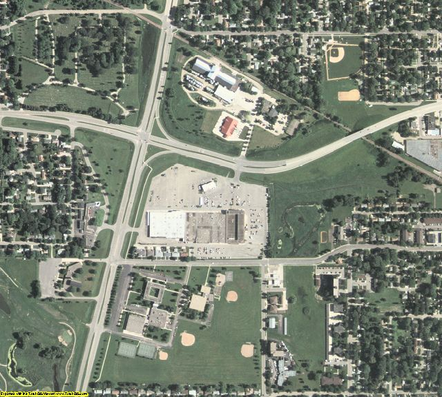 Freeborn County, MN aerial photography detail