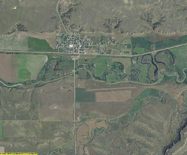 Golden Valley County, Montana aerial photography