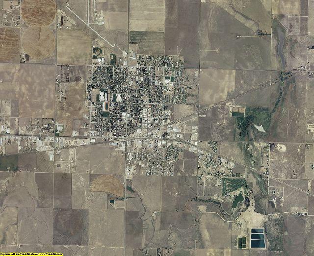 Grant County, Kansas aerial photography