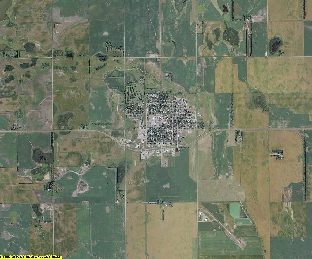 Griggs County, North Dakota aerial photography