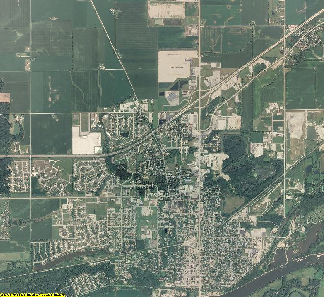 Grundy County, Illinois aerial photography