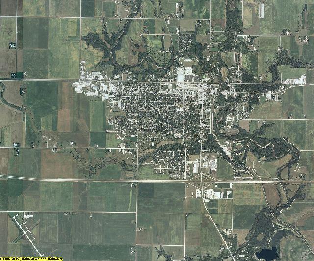 Hamilton County, Iowa aerial photography