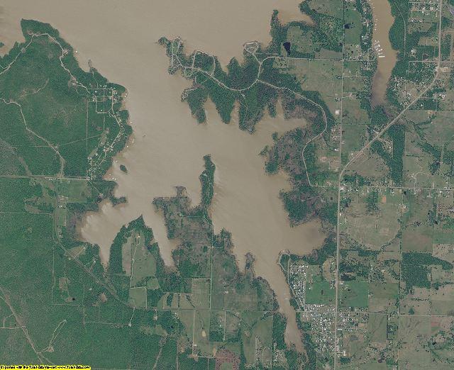 Haskell County, Oklahoma aerial photography