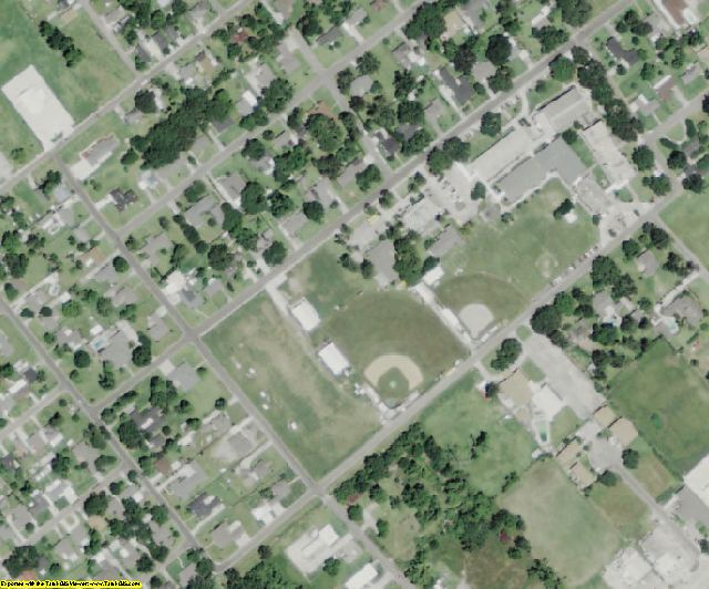Iberville County, LA aerial photography detail