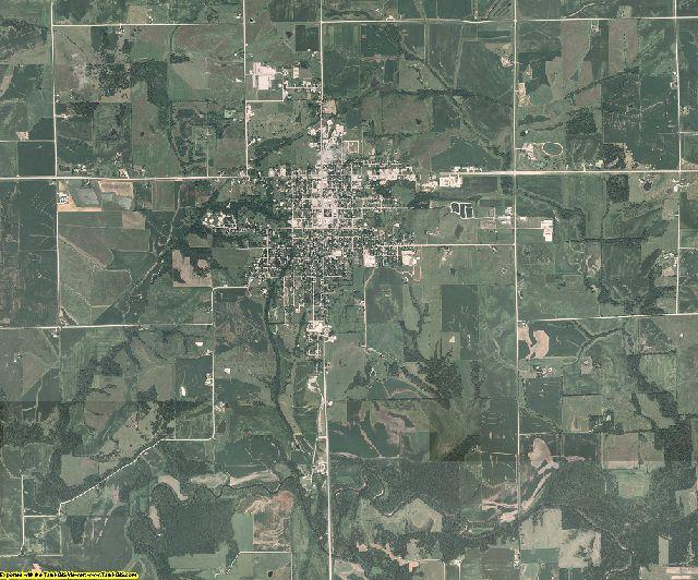 Keokuk County, Iowa aerial photography