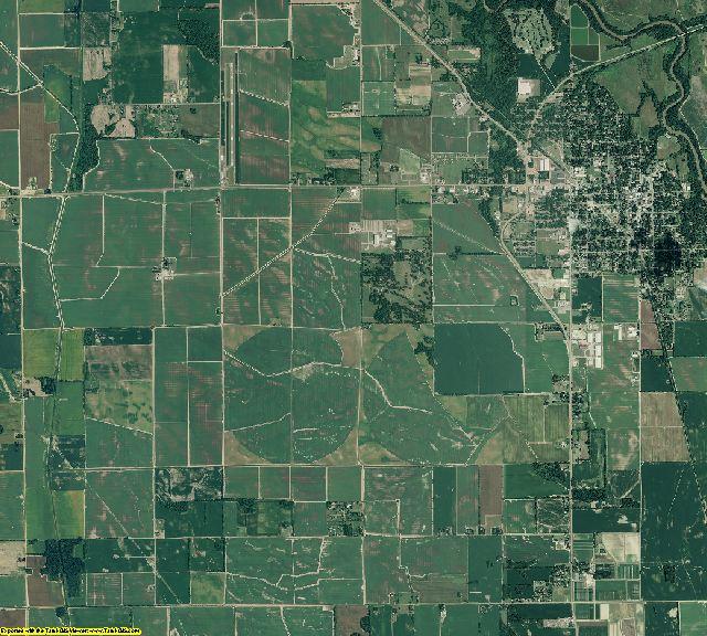 Lee County, Arkansas aerial photography