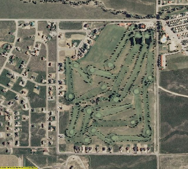Lincoln County, WY aerial photography detail