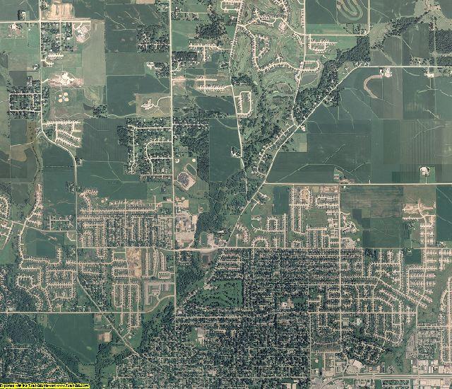 Linn County, Iowa aerial photography