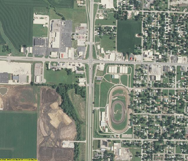 Logan County, IL aerial photography detail