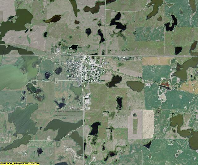 Logan County, North Dakota aerial photography