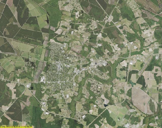 Marion County, South Carolina aerial photography