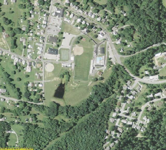 Monroe County, OH aerial photography detail
