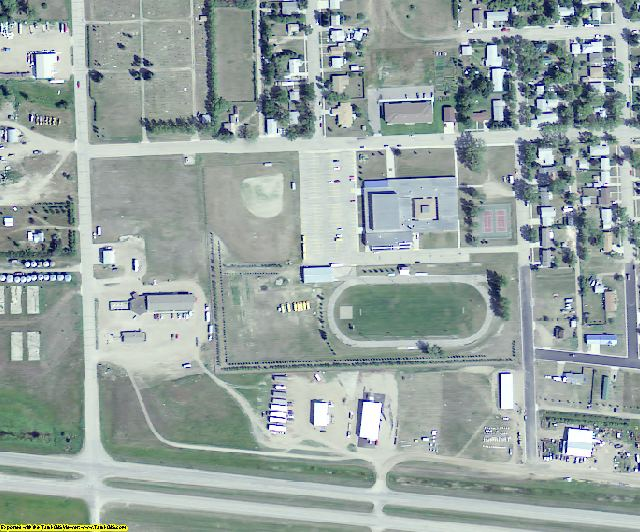 Mountrail County, ND aerial photography detail