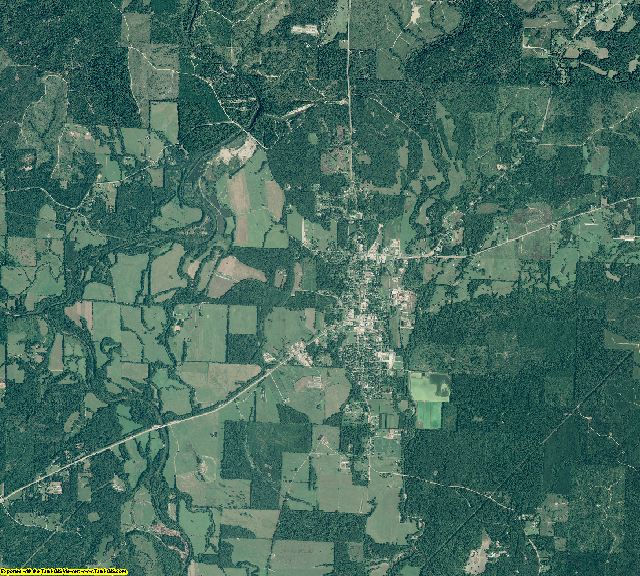 Pike County, Arkansas aerial photography