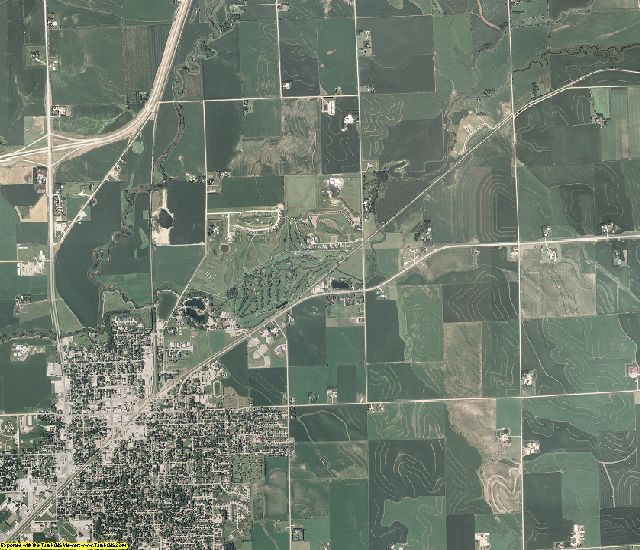 Plymouth County, Iowa aerial photography