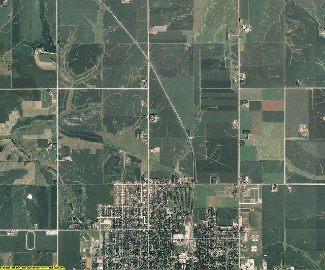 Poweshiek County, Iowa aerial photography
