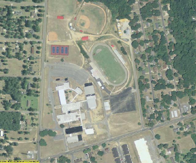 Pulaski County, GA aerial photography detail