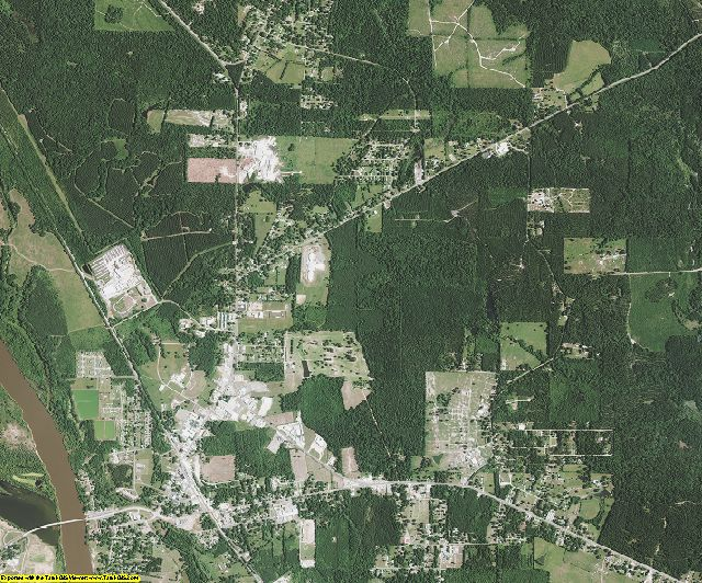 Red River County, Louisiana aerial photography