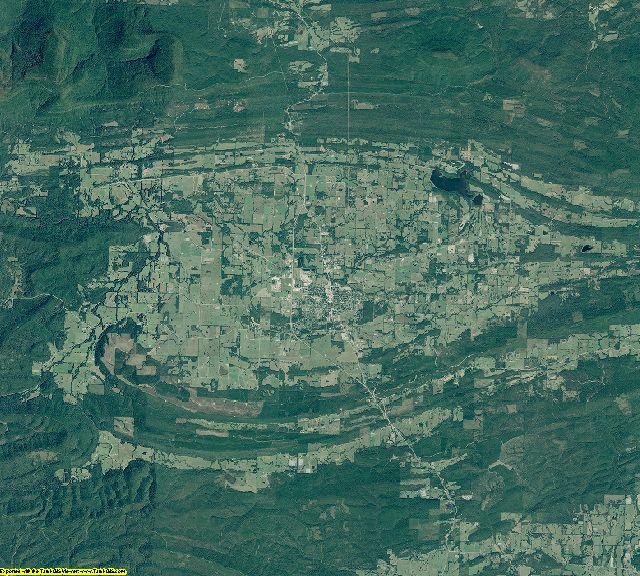 Scott County, Arkansas aerial photography