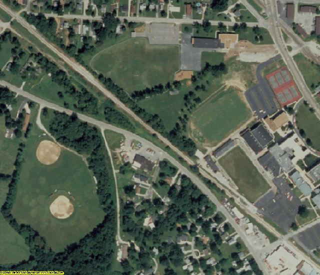 St. Clair County, IL aerial photography detail