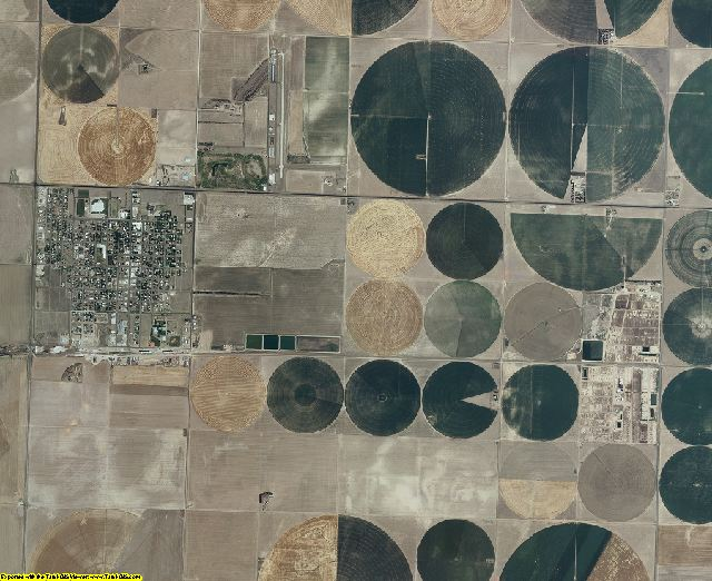 Stanton County, Kansas aerial photography