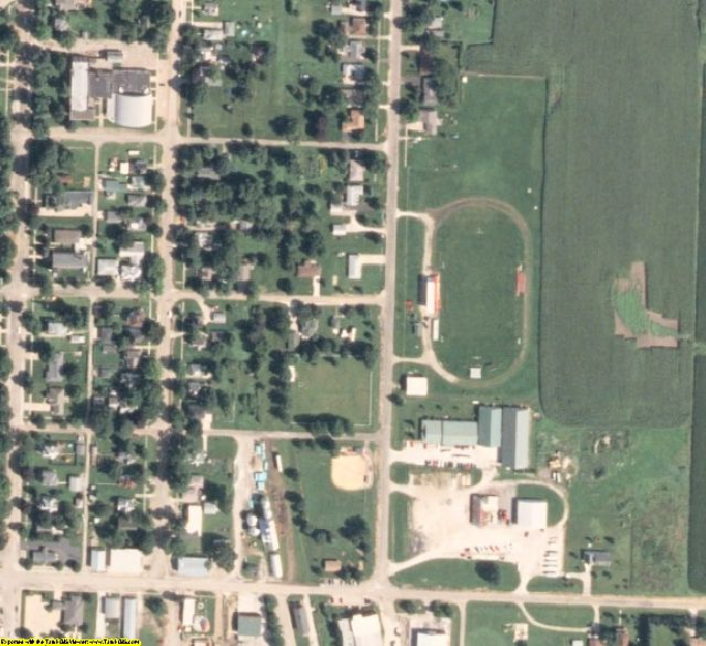 Stark County, IL aerial photography detail