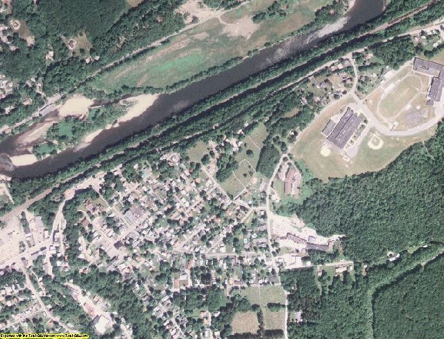 Susquehanna County, PA aerial photography detail