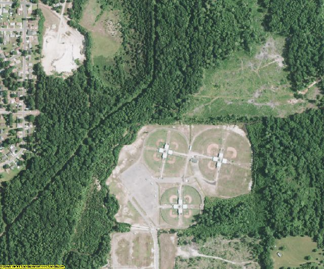 Webster County, LA aerial photography detail