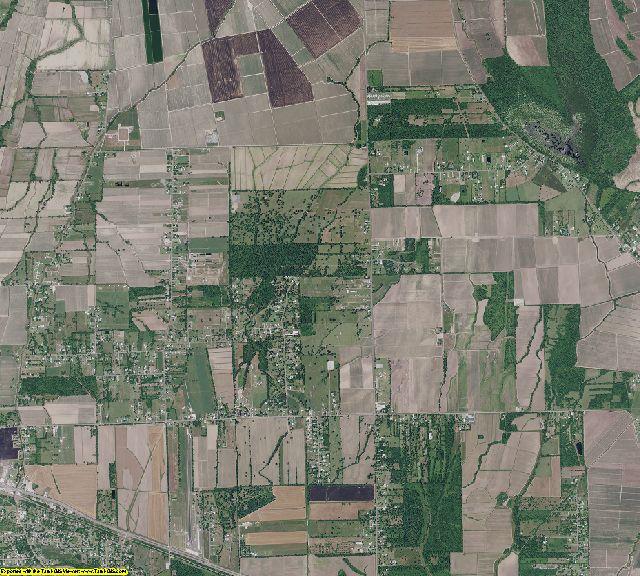 West Baton Rouge County, Louisiana aerial photography