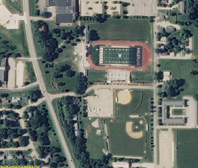 Adair County, MO aerial photography detail