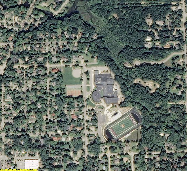Allegan County, MI aerial photography detail