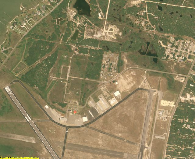 Aransas County, TX aerial photography detail