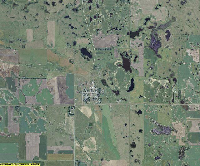 Benson County, North Dakota aerial photography