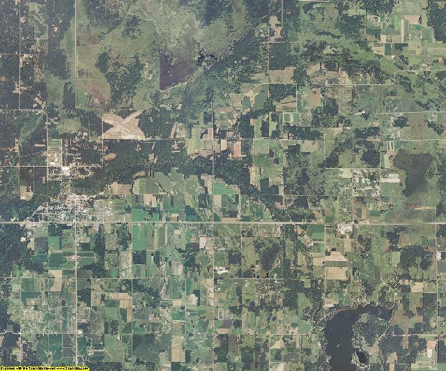 Burnett County, Wisconsin aerial photography