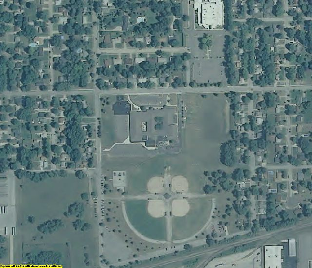 Elkhart County, IN aerial photography detail