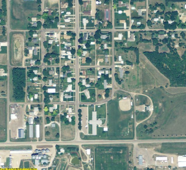 Franklin County, NE aerial photography detail