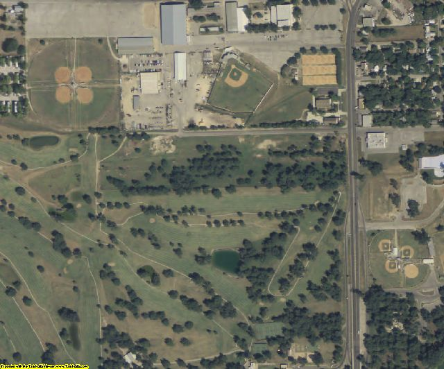 Guadalupe County, TX aerial photography detail