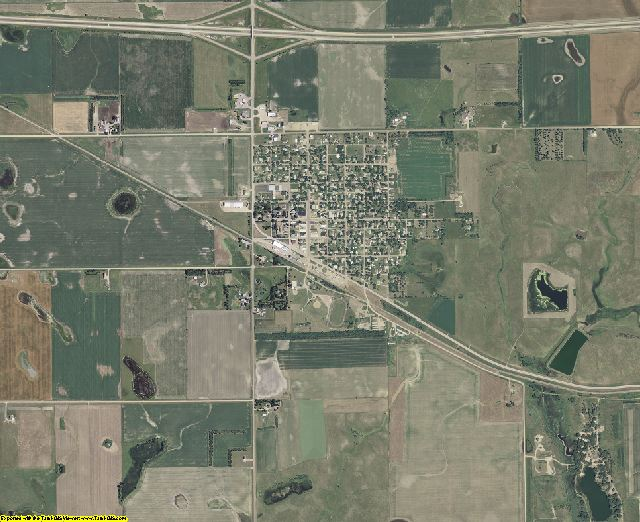 Hanson County, South Dakota aerial photography