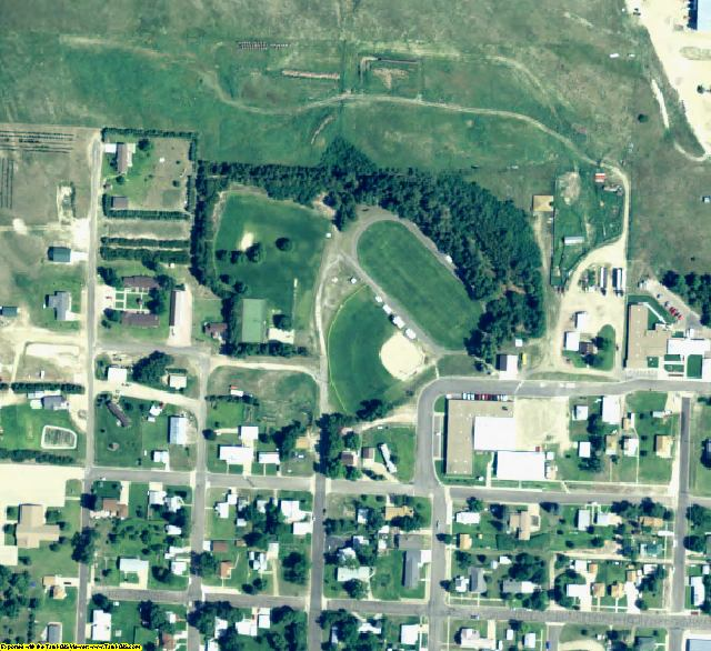 Hooker County, NE aerial photography detail
