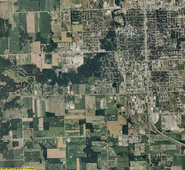 Isabella County, Michigan aerial photography