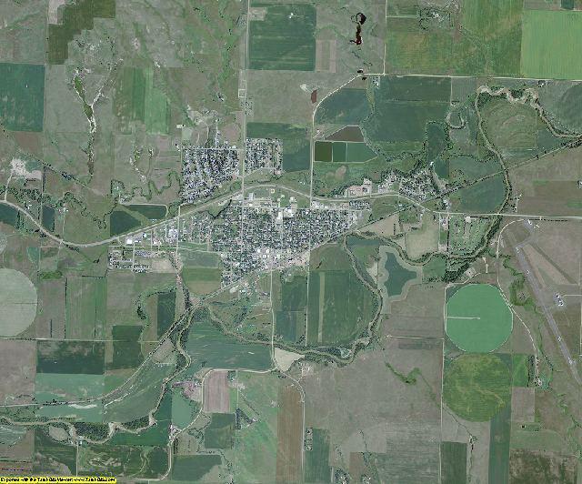 Mercer County, North Dakota aerial photography