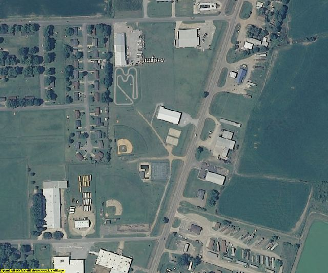 Sharkey County, MS aerial photography detail
